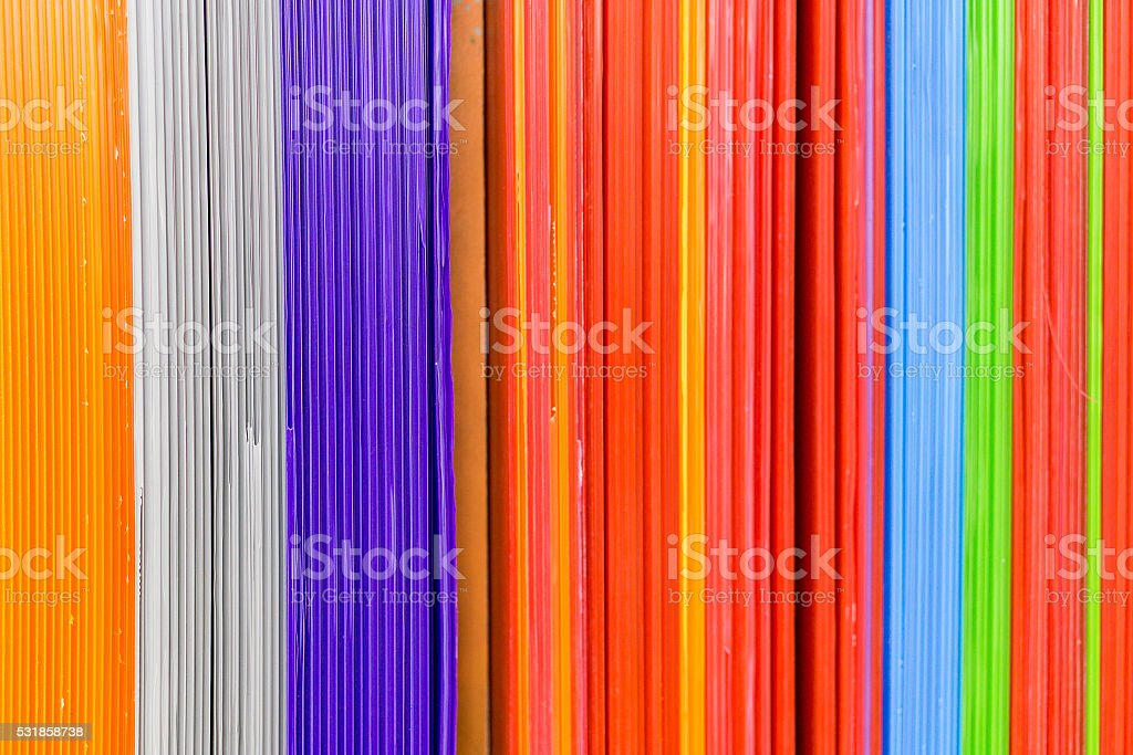 corrugated plastic stock photo