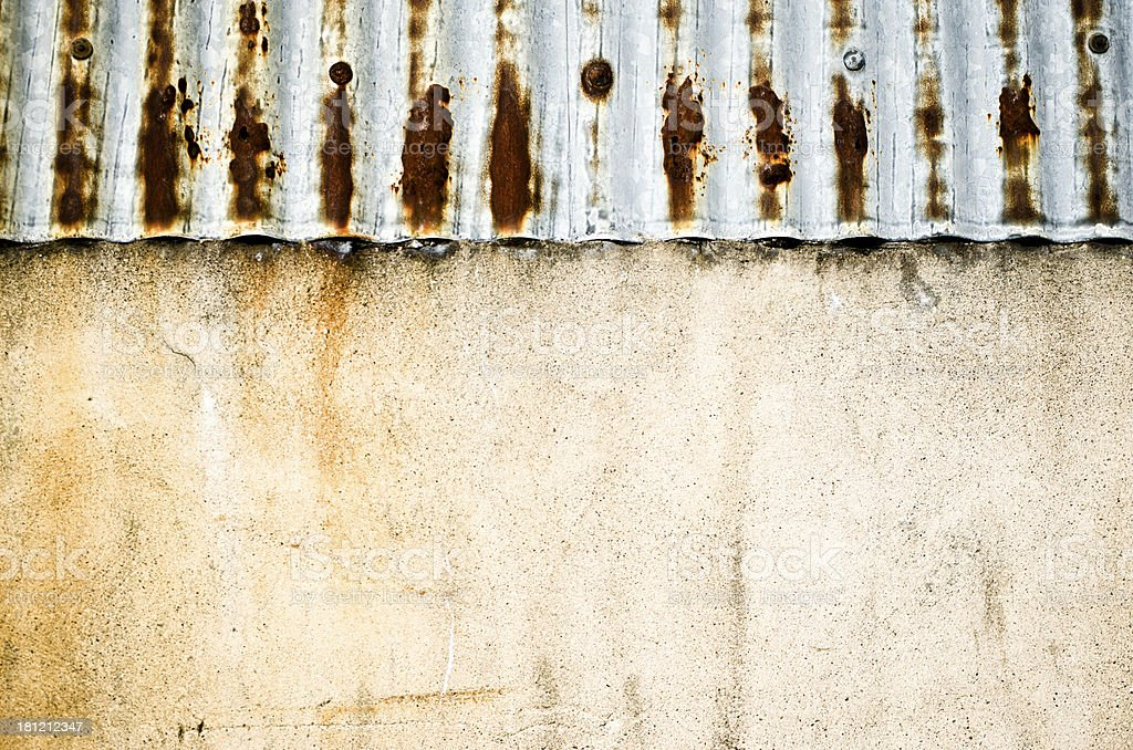corrugated roof and wall texture royalty-free stock photo