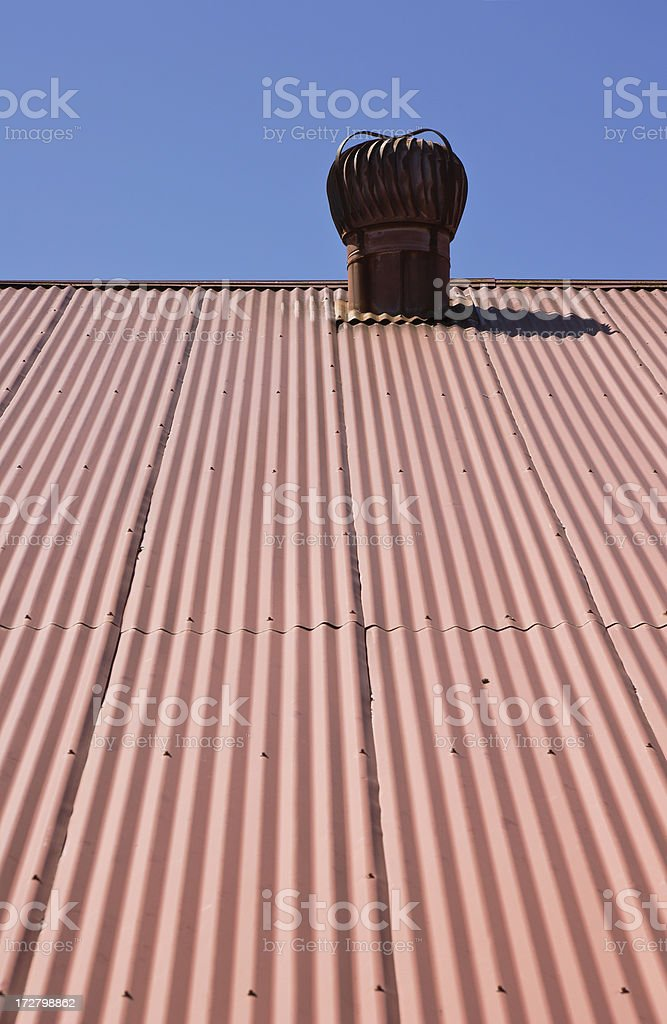 Corrugated Roof royalty-free stock photo