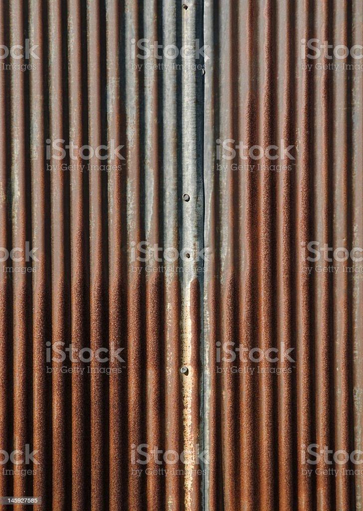 Corrugated Rust royalty-free stock photo