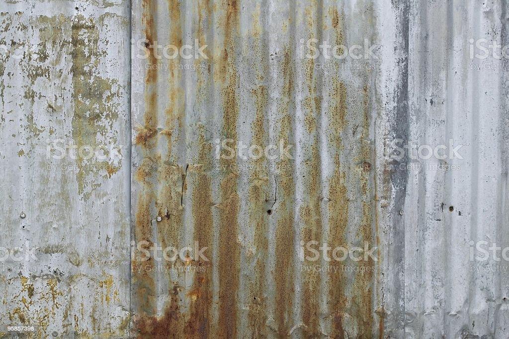 Corrugated Rust stock photo