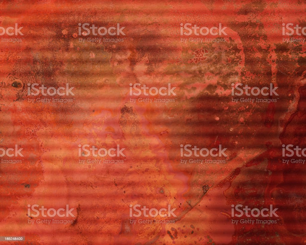 corrugated rusted metal surface royalty-free stock photo