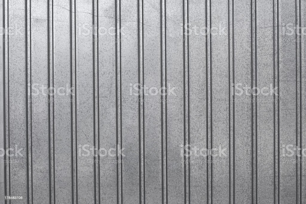 Corrugated sheet front view stock photo