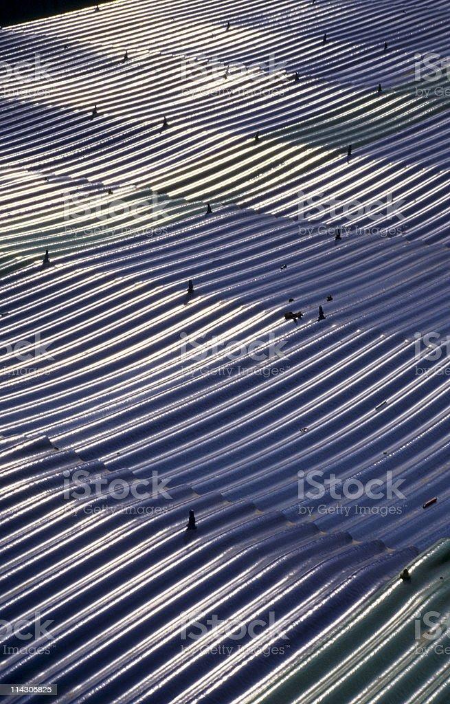 Corrugated sheet roof, close-up, Istanbul, Turkey royalty-free stock photo