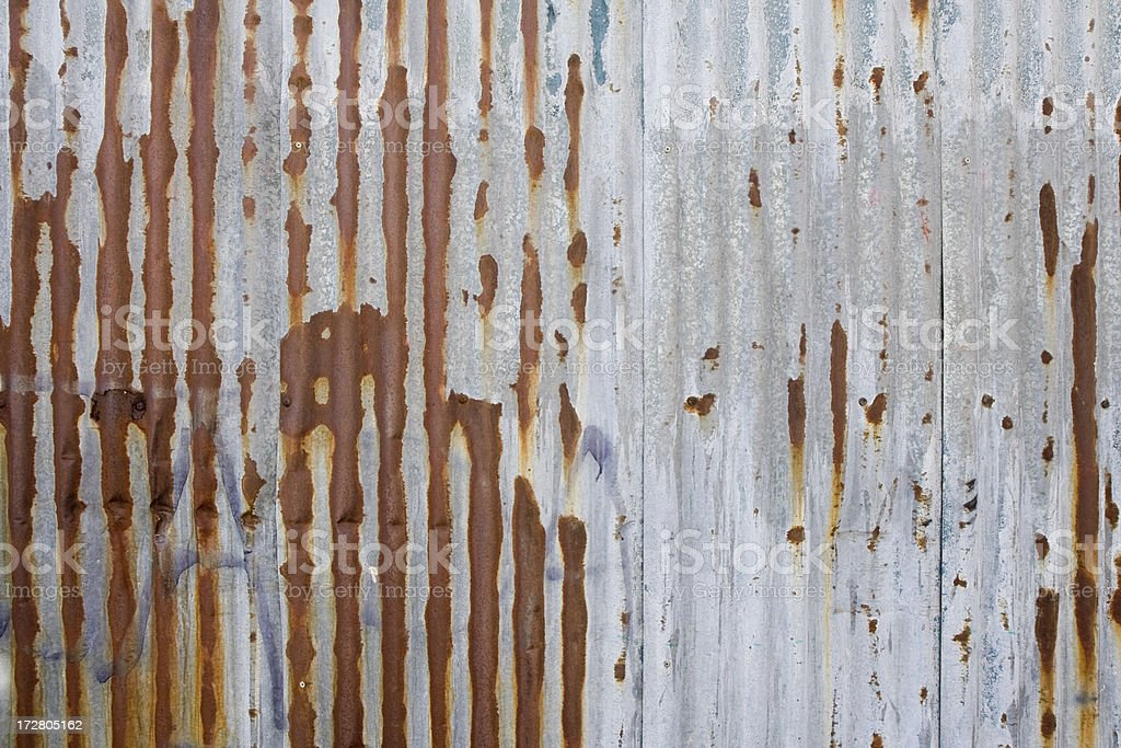 Corrugated steel royalty-free stock photo