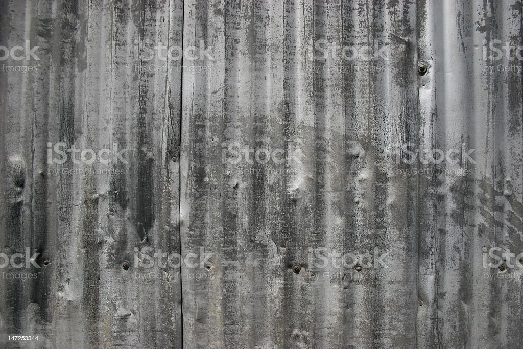 Corrugated Steel Siding Background royalty-free stock photo