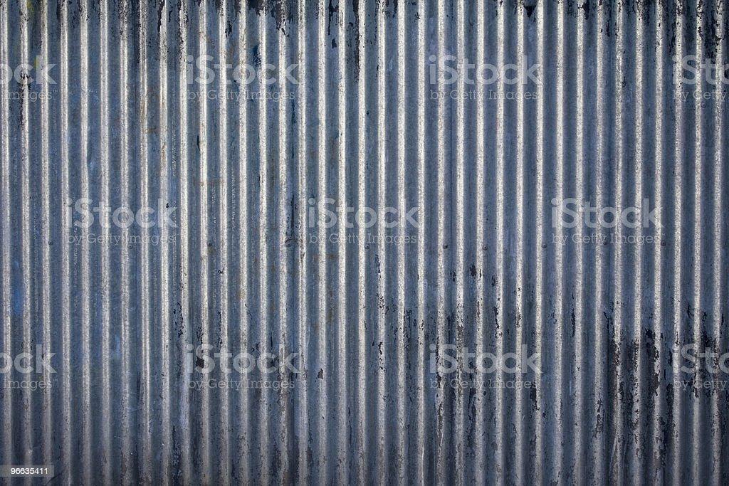 Corrugated steel texture stock photo