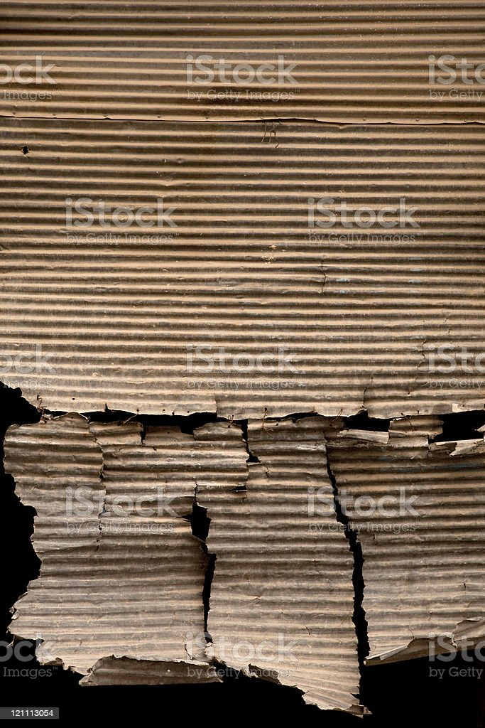 Corrugated torn metal background royalty-free stock photo