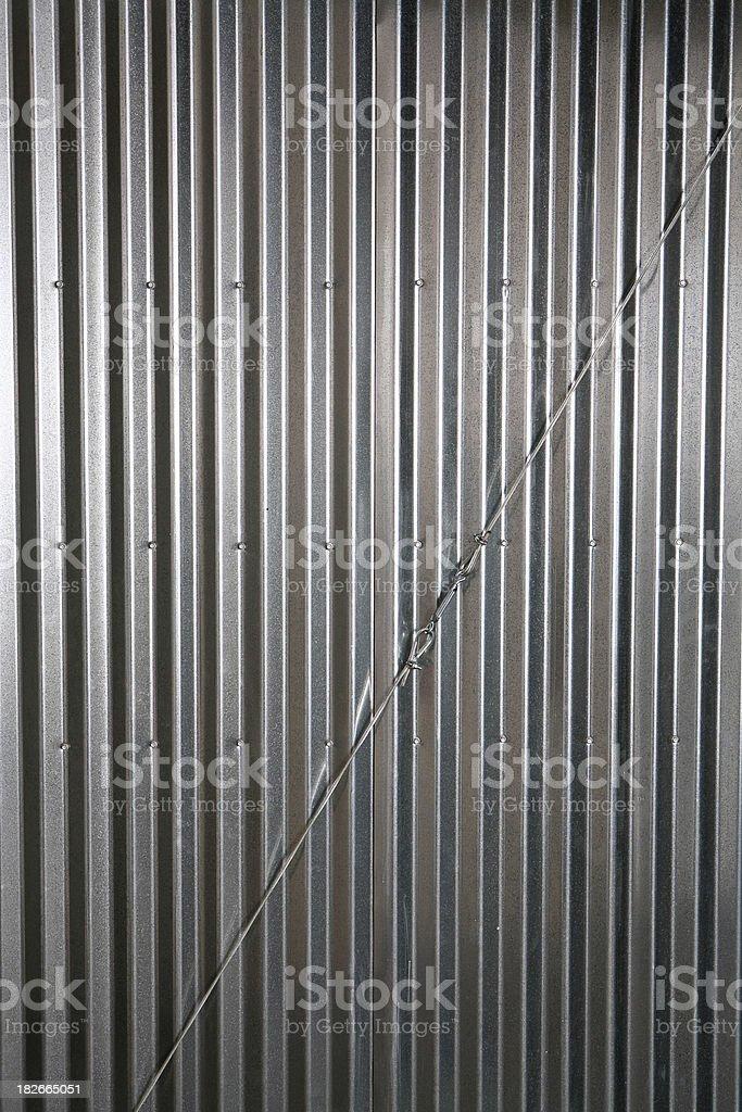Corrugated Wall royalty-free stock photo