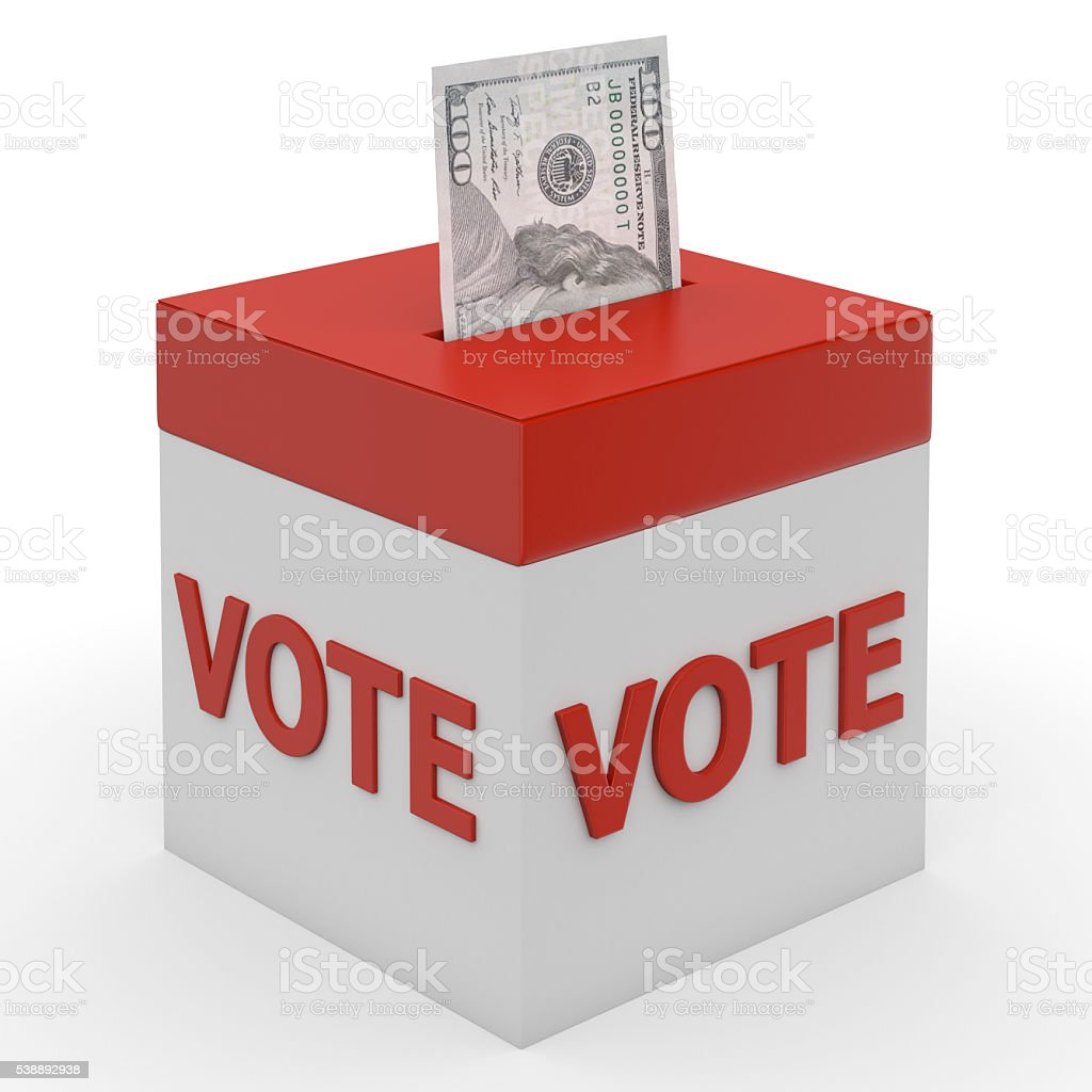 Corruption and big money lobbying in election politics stock photo