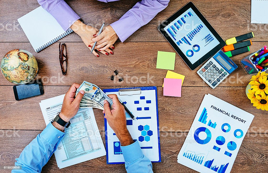 Corruption in administration stock photo