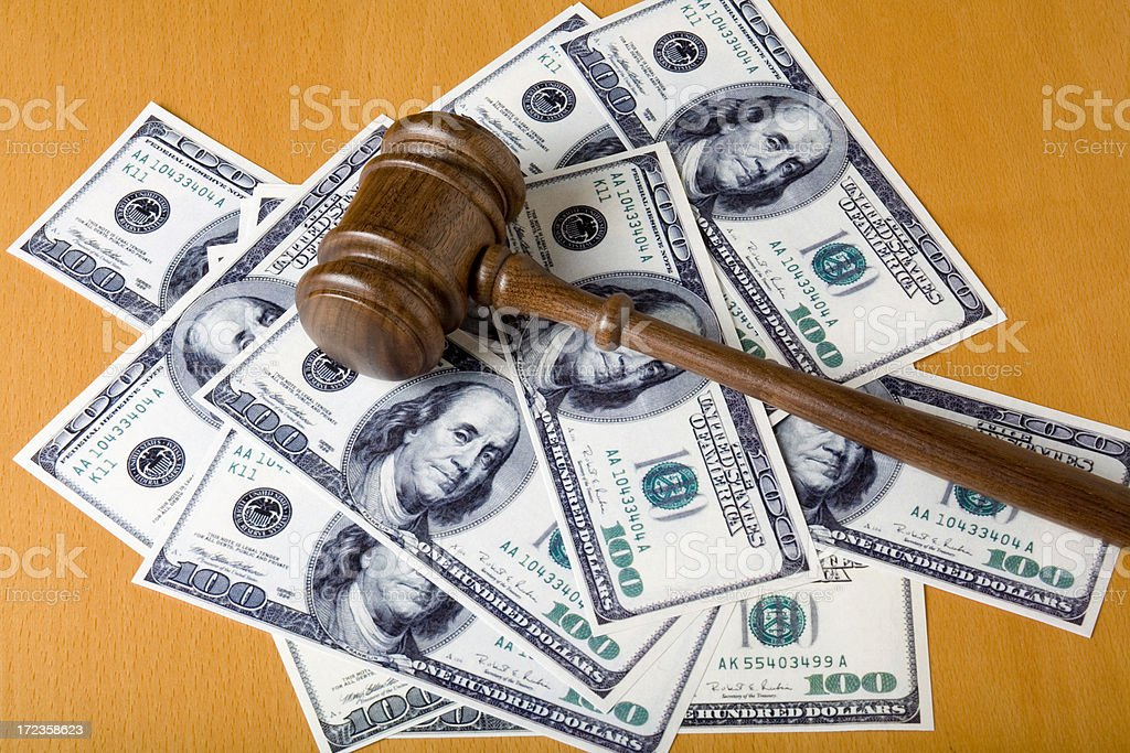 Corruption of justice system royalty-free stock photo