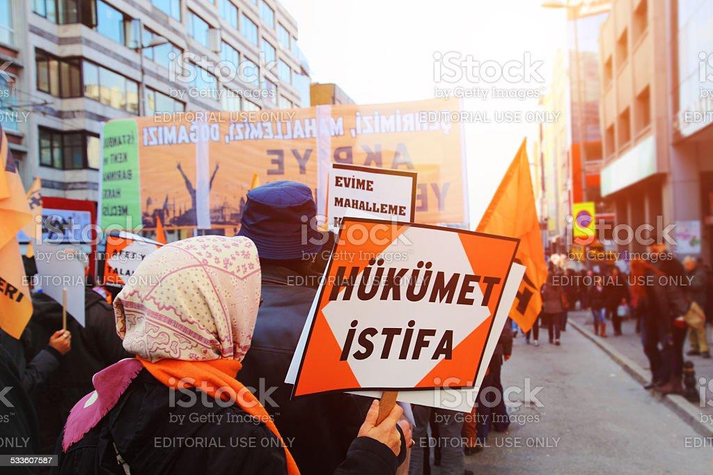 Corruption Protests stock photo