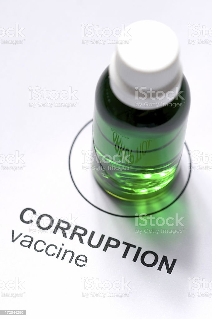 Corruption Vaccine royalty-free stock photo