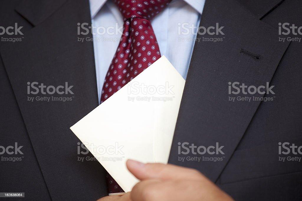 Corruption - White Collar Crime stock photo