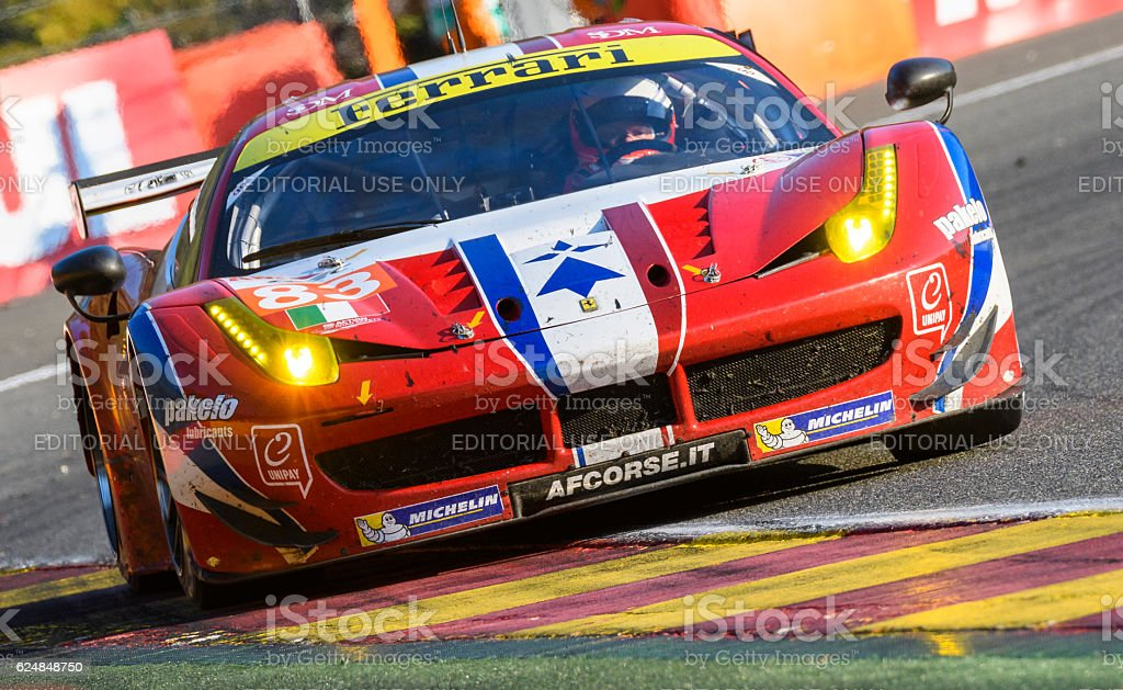 AF Corse Ferrari 458 GTE race car stock photo