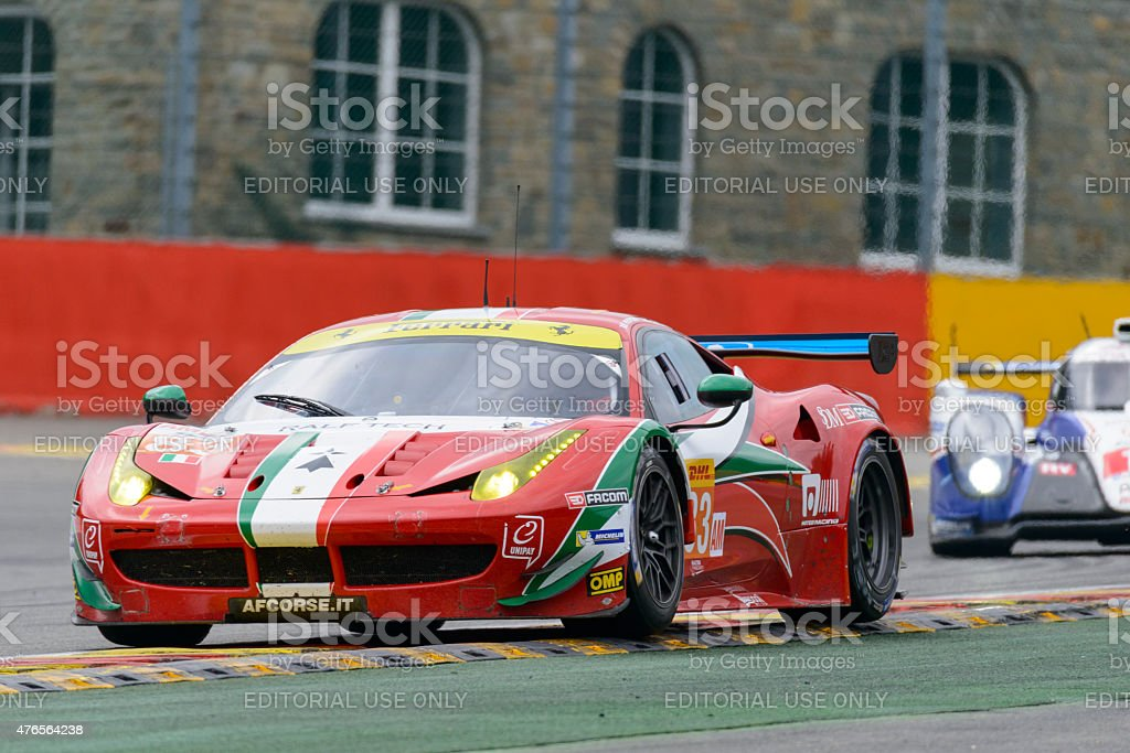 AF Corse Ferrari 458 Italia GT race car stock photo