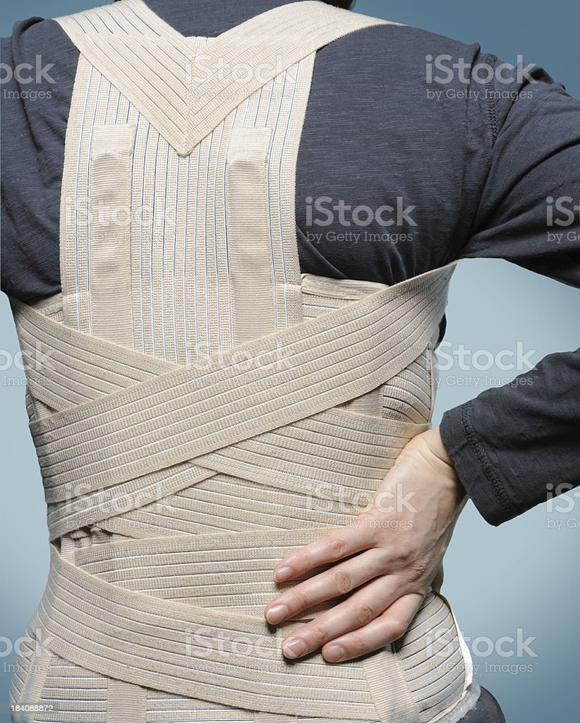 Corset for backache royalty-free stock photo
