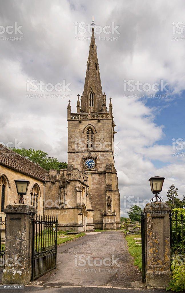 Corsham parish church in , Cotswolds, UK stock photo