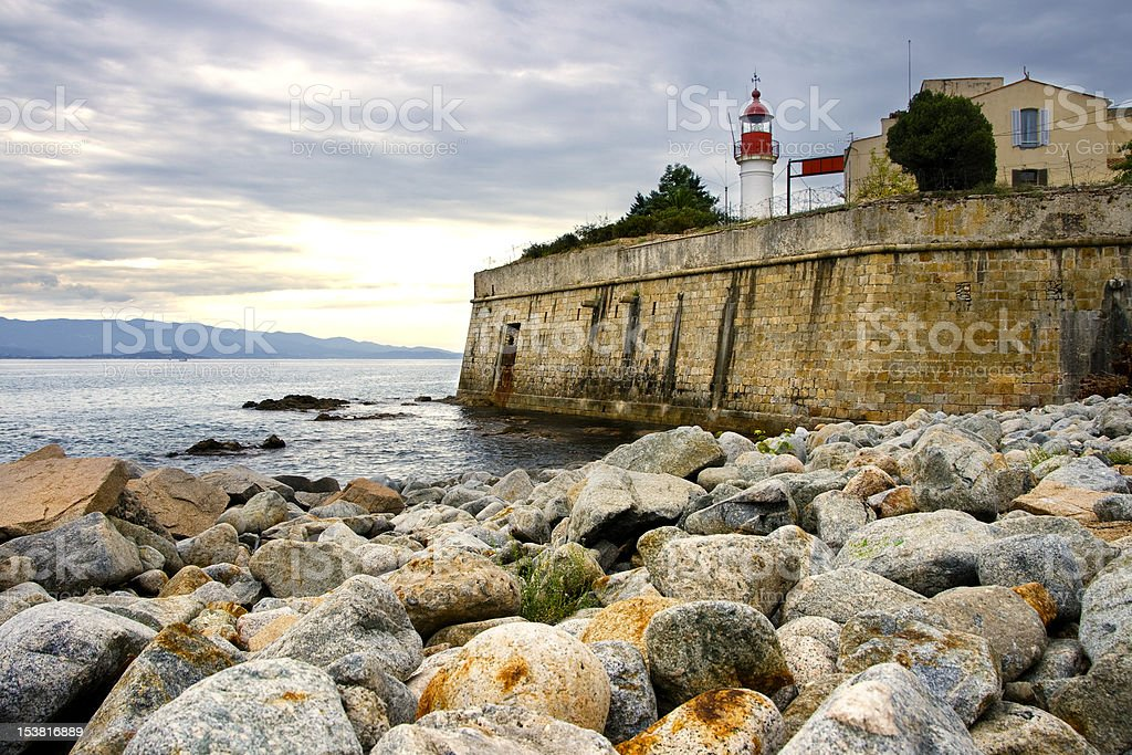 corsica lighthouse stock photo
