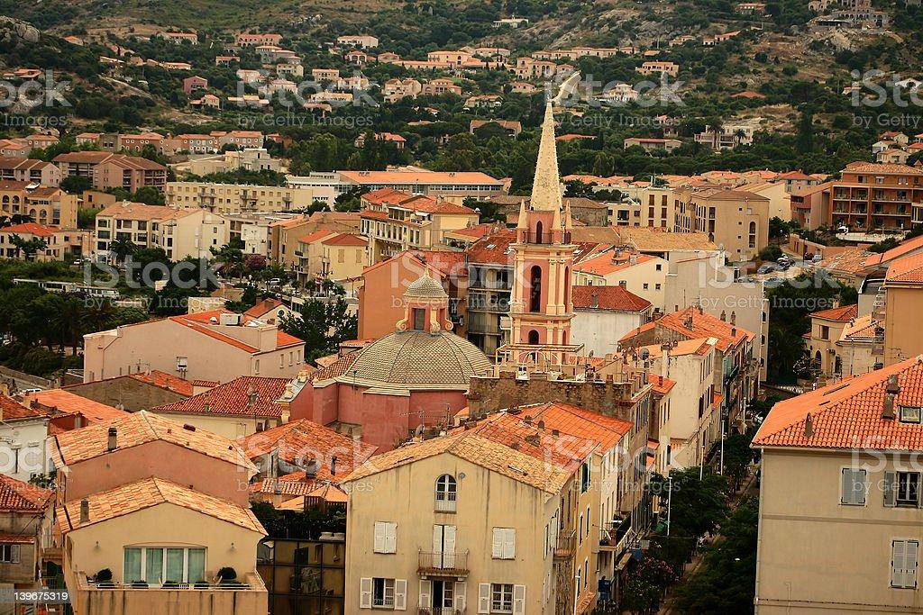 corsica sceneries stock photo