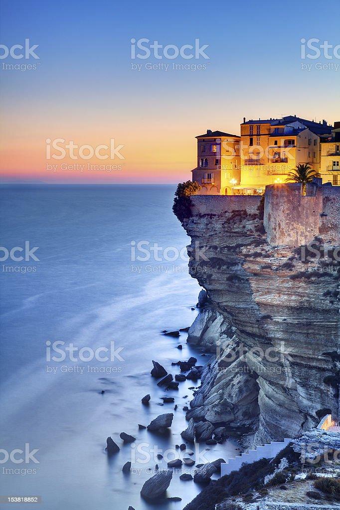 Corsica twilight stock photo