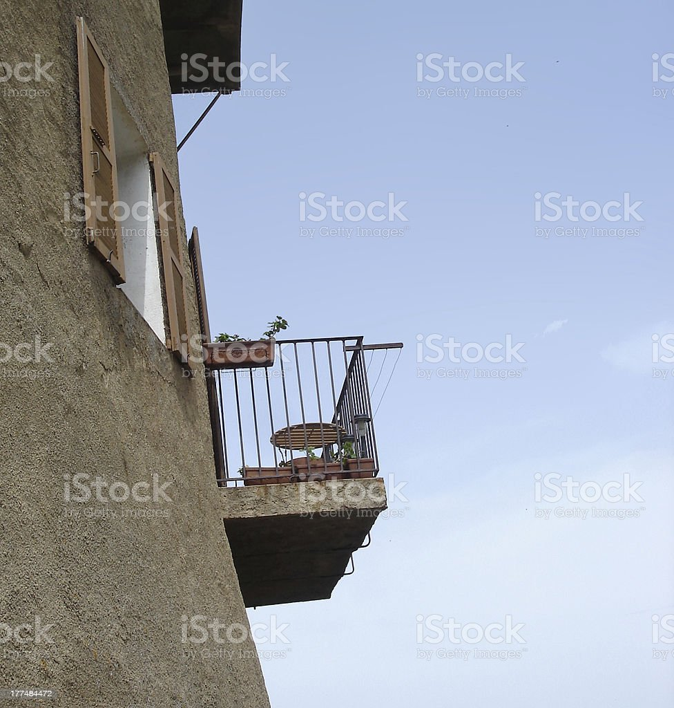 Corsican balcony profile stock photo