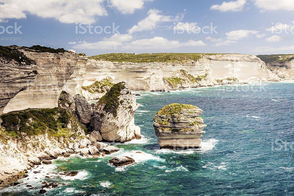 corsican landscape stock photo