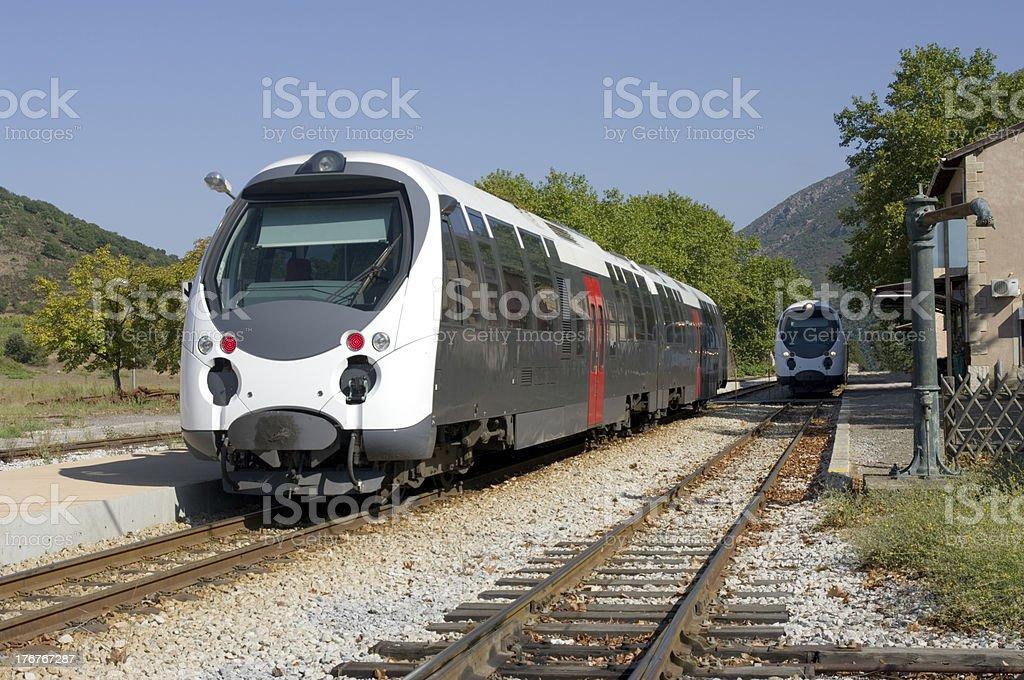 Corsican railway stock photo