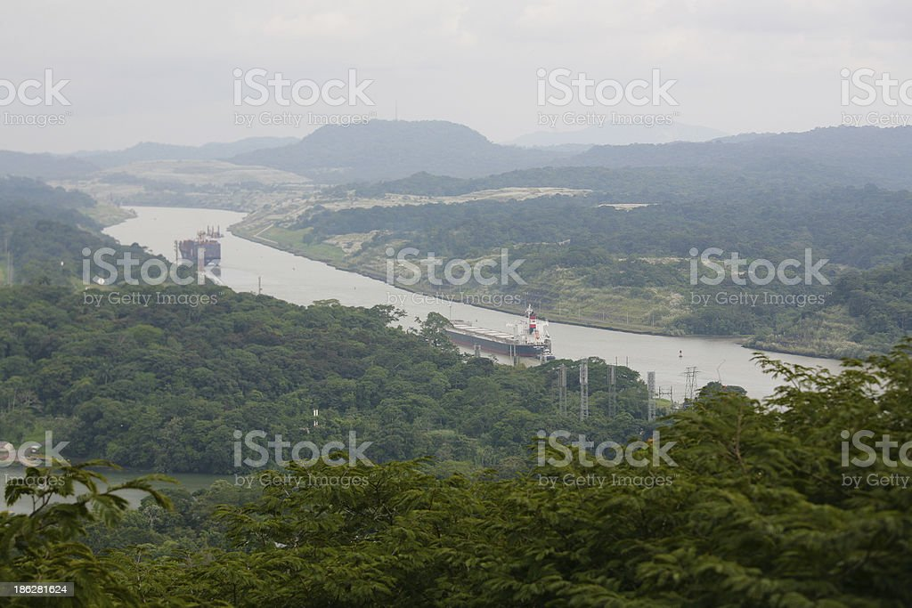 Corte Culebra, part of the Panama Canal stock photo