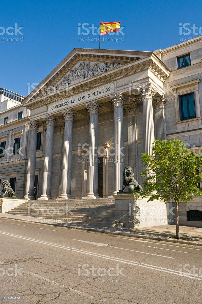 Cortes Spanish Parliament royalty-free stock photo