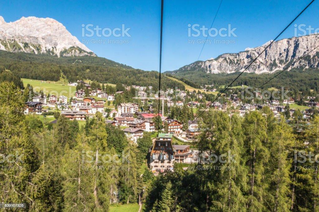 Cortina D'Ampezzo in Italy stock photo