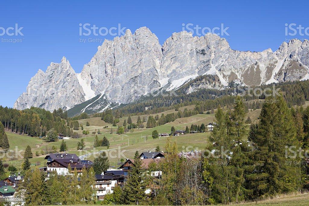 Cortina d'Ampezzo outskirts, Veneto Italy royalty-free stock photo