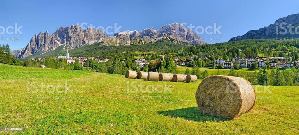 Cortina D'Ampezzo Panorama stock photo