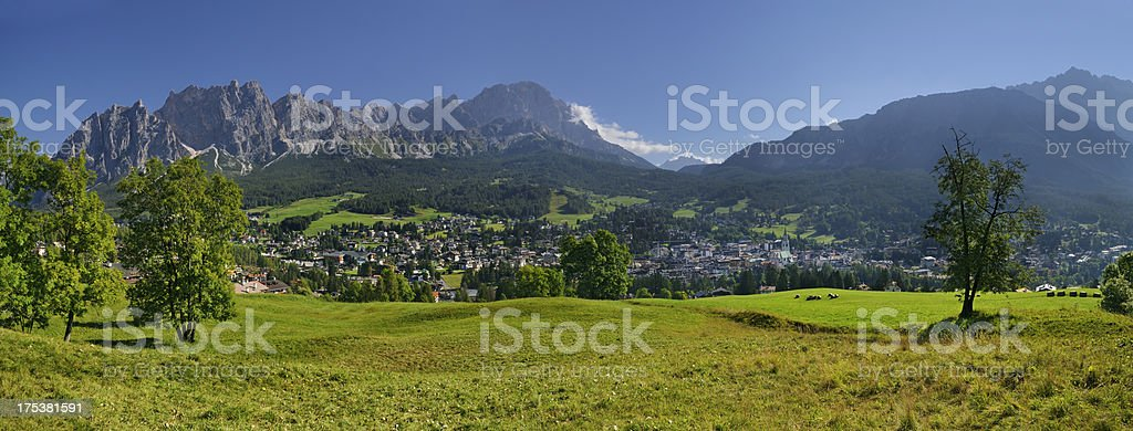 Cortina D'Ampezzo Panorama (Italy) stock photo