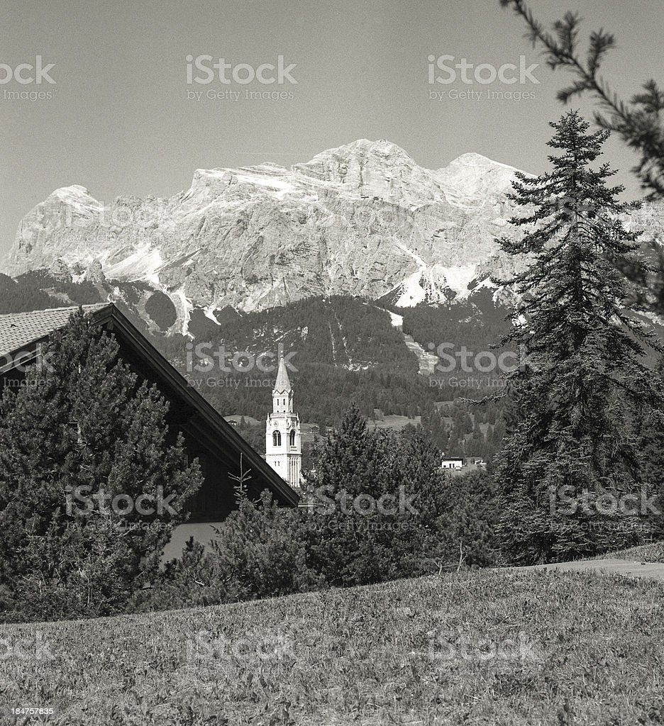 Cortina D'Ampezzo with Hasselblad royalty-free stock photo