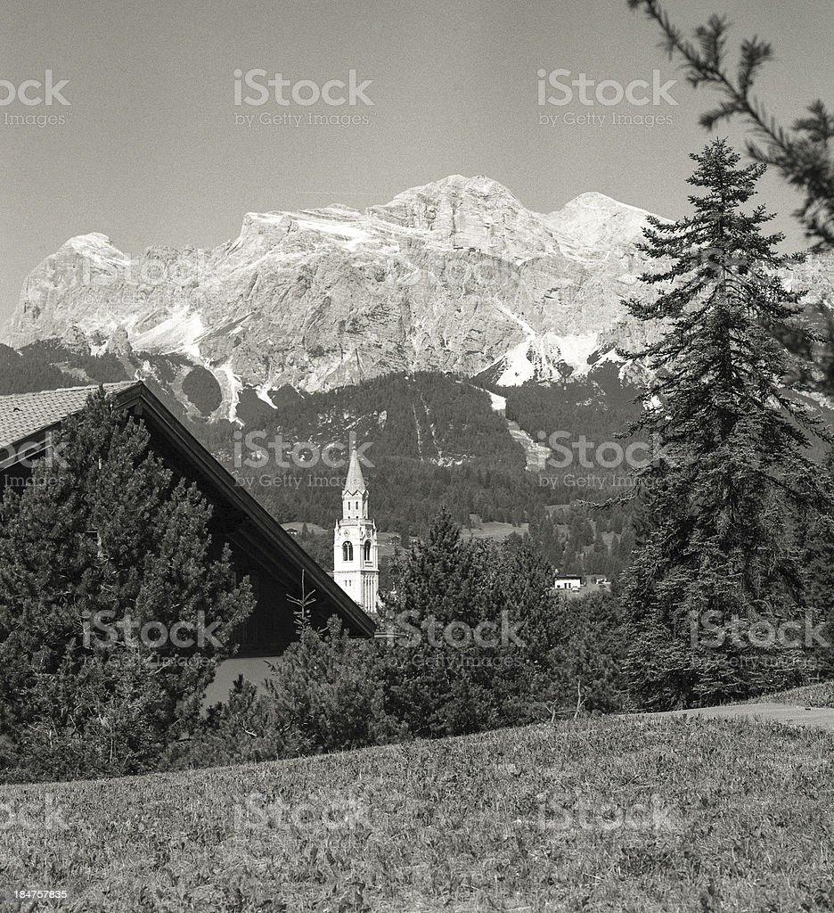 Cortina D'Ampezzo with Hasselblad stock photo