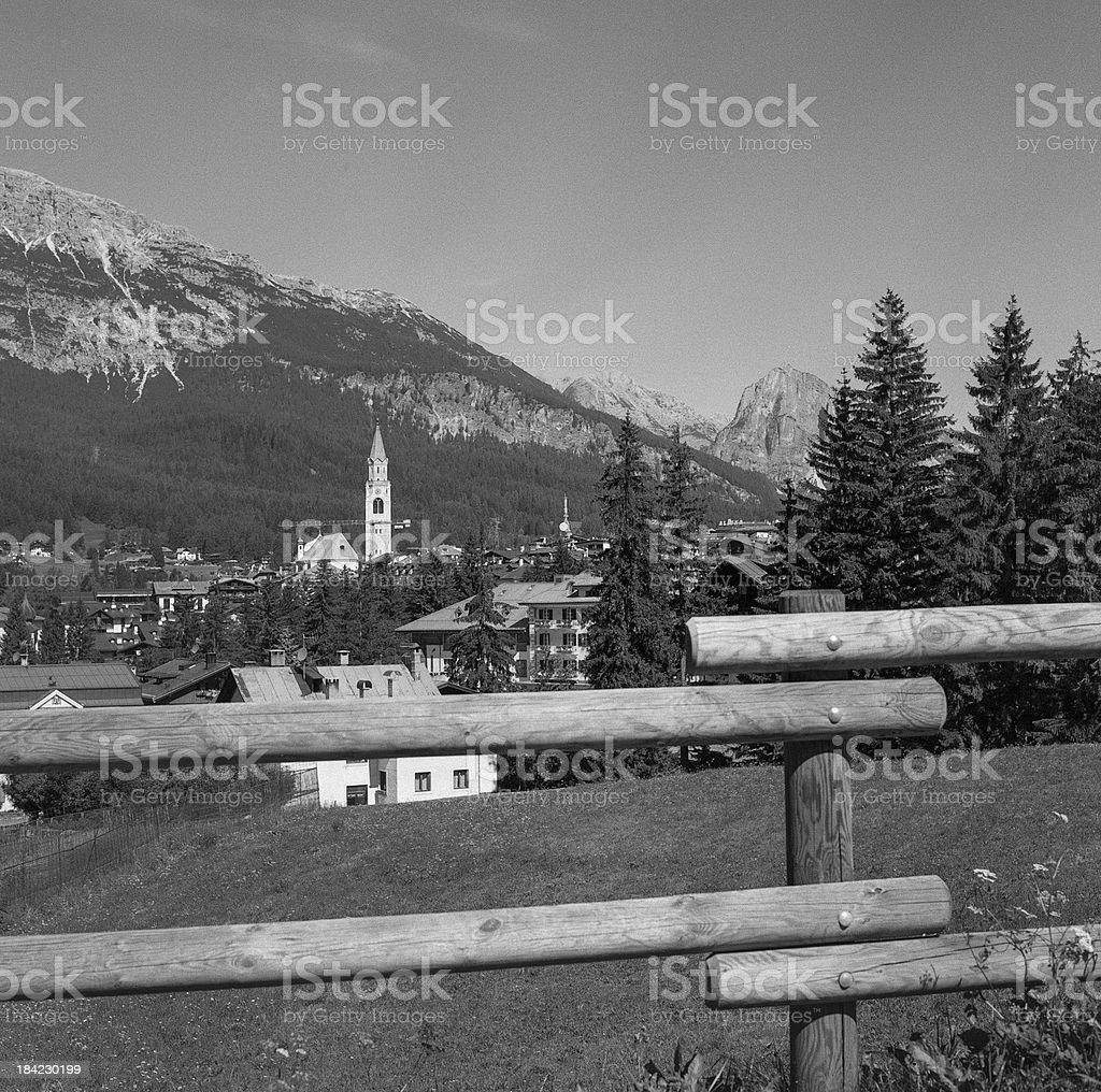 Cortina D'Ampezzo with Hassy royalty-free stock photo