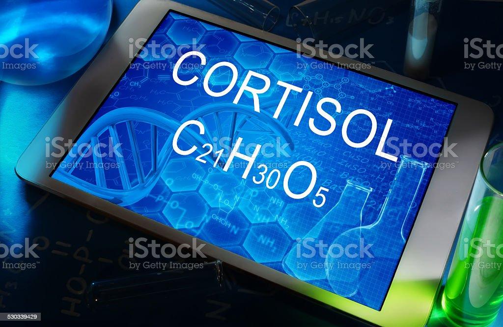 Cortisol stock photo