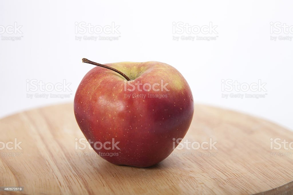 Cortland apple on wooden table stock photo