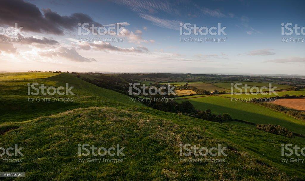 Corton Hill sunrise stock photo