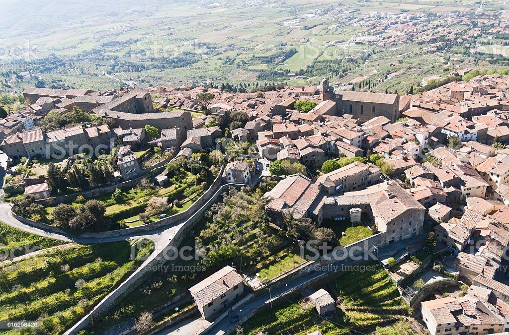 Cortona in Tuscany stock photo