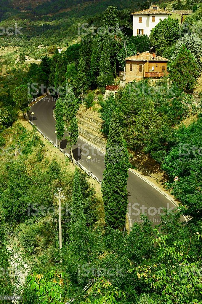 Cortona in Tuscany royalty-free stock photo