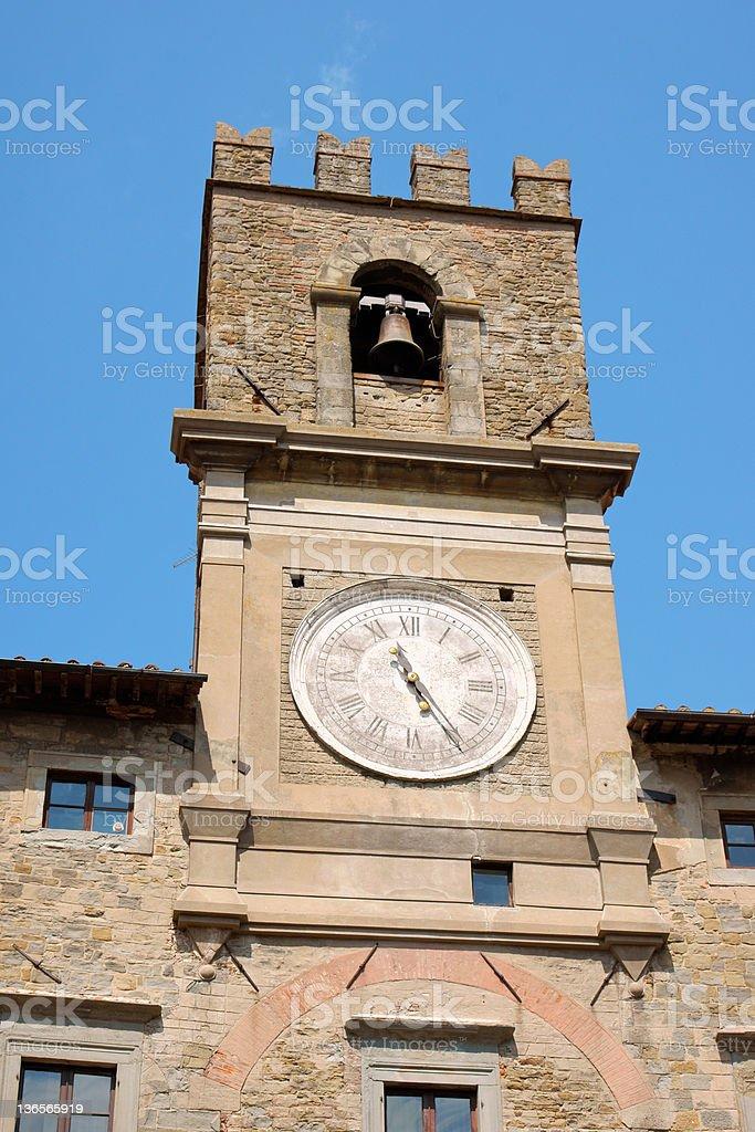 Cortona Town Hall stock photo
