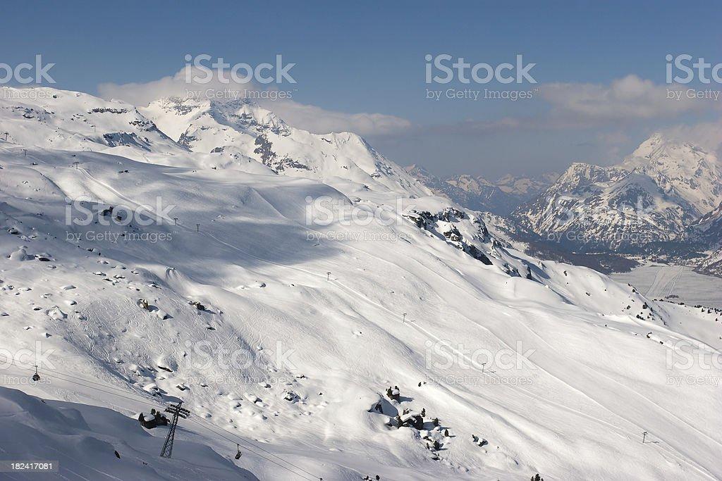 Corvatsch Ski Area stock photo