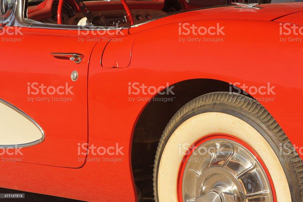 Corvette Classic Collector Car 1960s stock photo