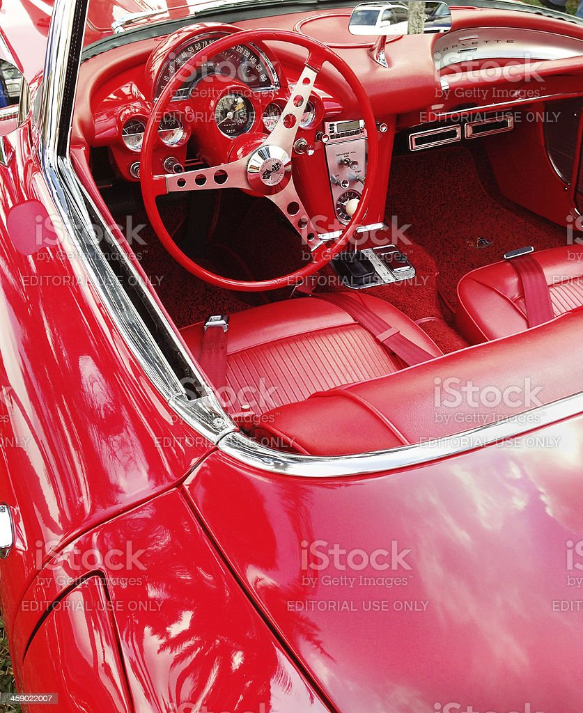 Corvette interior royalty-free stock photo