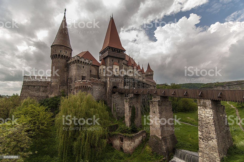 Corvin Castle in Romania stock photo