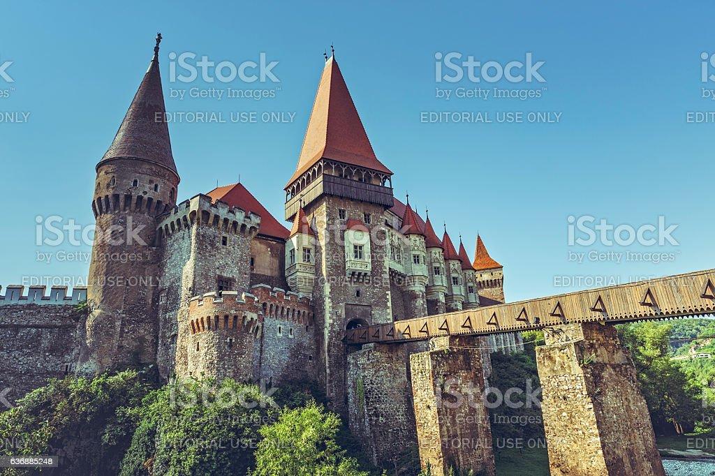 Corvin Castle, Romania stock photo
