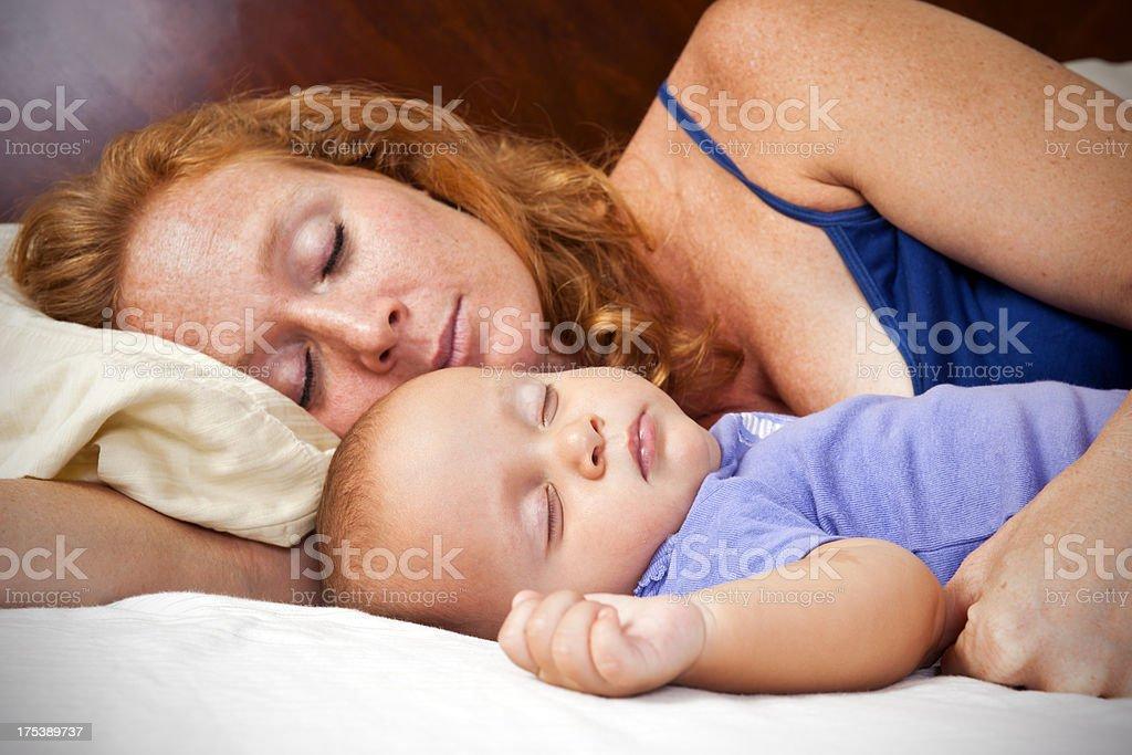 Co-sleeping royalty-free stock photo